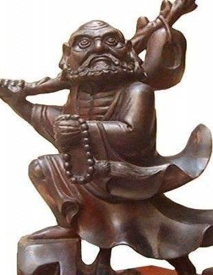 Tượng bồ đề đạt ma gỗ cẩm lai